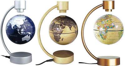 浮いて回転する不思議な地球儀MAGNETIC GLOBE 10cm 20cmマグネット電源を入れると磁力が発生し地球儀が中に浮きますシルバー ゴールド アンティーク浮遊地球儀 お子様の入学祝いやプレゼントに