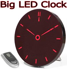 置いて良し!壁に掛けて良し!立て掛け兼用 指針をLED表示リモコン付きビッグレッドLEDクロック暗闇でもはっきり見える壁掛け時計インテリアデザインクロック置き時計アナログ