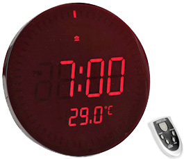 置いて良し!壁に掛けて良し!立て掛け兼用アラーム付きで目覚まし時計にもなるリモコン付きビッグレッドLEDクロック暗闇でもはっきり見える壁掛け時計温度表示付き置き時計カウントアラウンドデジタルアラームクロック グリーンLED