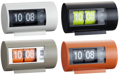 TWEMCO AL-28トゥエンコ パタパタクロック デスククロックトゥウェムコ 置き時計 デジタルアラームクロック 目覚まし時計ホワイト オレンジ グレー ブラック