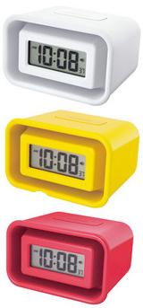 メガホンアラームクロック爆弾音量の目覚まし時計さて、これが鳴ってもアナタは眠り続けられるか!?カレンダー表示 時間&分&秒&月&日付け&曜日ホワイト レッド イエロー置き時計 デスククロックインテリアデザインクロック