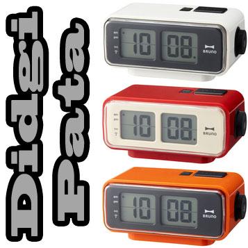 静かなデジタルパタパタクロック電波時計 目覚まし時計 LCDレトロデスククロックレッド ホワイト オレンジ ブラウン時間のズレを自動補正今までに無い斬新なデザイン オシャレなアラームクロックをお探しの貴方に是非この逸品を置き時計 置時計