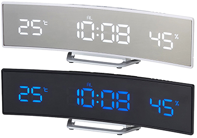 With automatic correction wave watch bind bar LED clock white LED blue LED  black time 5103d804bb