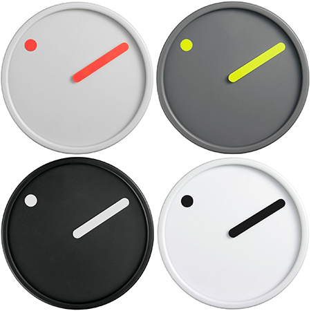 レトロモダンなデザイン バイカラー丸型掛け時計ブラック ダークグレー ライトグレー ホワイト壁掛時計 ウォールクロックドット&バー シンプルラウンドクロックレトロモダンなデザインウォールクロックデザイナーズ