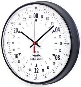 アメリカンヴィンテージスタイル24時間時計オフィス&スクールシンプルウォールクロック掛け時計 ブラック×ホワイトインテリアクロック 24Hクロックラウンドウォールクロック反射しにくいフォルムで、視認性が高い高性能
