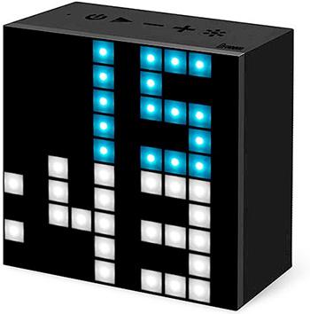 サイコロ型の時計 マルチカラーLEDクロック暗闇でも時間をはっきり確認できるLEDクロックブラックスクエアボックスデジタルクロックデスククロック 置き時計