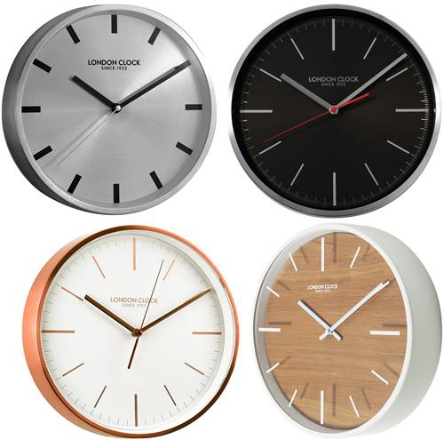 British Design Modern Wall Clock Silver Black White Natural Brown Gl Facebar Index Round Type Interior Stainless Steel
