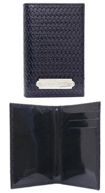 ドルチェ&ガッバーナ カードケースDOLCE&GABBANA ドルガバ二つ折り名刺入れ ブラック シルバーロゴプレート 牛革 メッシュモチーフ地CARD CASE 定期入れ パスケースD&G ディー&ジーBP0606-A5483-80999