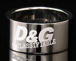D&G DOLCE&GABBANAロゴリング シルバーアクセサリー プレゼントメンズ レディース 男女兼用ドルチェ&ガッバーナ ドルガバDJ0615 DJ0590 J0591 約20号 約22号 約18号