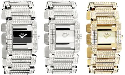 Wrist watches Watch analog DOLCE &GABBANA d & g ladies in Dolce & Gabbana watch Royal D & G TIME WATCH Royal DW0218 DW0219 DW0220 ジルコニアシルバー band accessory in Simon Pur dials available as for work