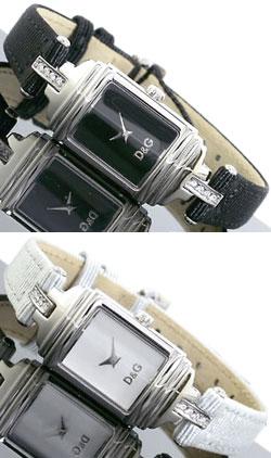 DOLCE&GABBANA 腕時計ドルチェ&ガッバーナ レディースウォッチ ブラック ホワイトレザーベルト ラインストーンバンズ アナログWATCHドルガバ ドルチェ&ガッバーナDW0334BKDW0336WH BANDSドルガバ D&G ディー&ジー