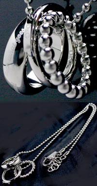 DOLCE&GABBANA ペンダントネックレス3連シルバーリングトップアクセサリー ボールチェーンPENDANT NECKLACEドルガバ ドルチェ&ガッバーナJewelry DJ0663ドルガバ D&G ディー&ジーメンズ レディース 男女兼用