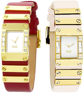 D&G 腕時計ドルガバ アナログウォッチ キルトホワイト文字盤 ゴールドフレームレッド ピンクDOLCE&GABBANA KILTDW0349 DW0347 ステンレスシルバー DW0345ディー&ジーレディースドルチェ&ガッバーナアクセサリー ブレスレット