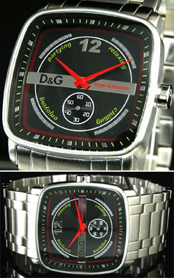 D&G 腕時計ドルガバ アナログウォッチ イビザピープルブラック ブルー ホワイト オレンジミニセコンドDOLCE&GABBANA IBIZA PEAPLEDW0051DW0052DW0053DW0054SLWHディー&ジーメンズドルチェ&ガッバーナアクセサリー