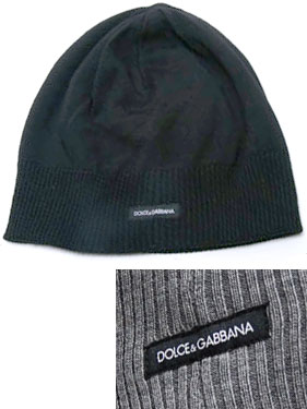 DOLCE  GABBANA d  amp  g knit Cap logo tag grey black hat knit Cap Dolce   amp  Gabbana D  amp  G men s ladies   men and women unisex KNIT CAP wool  100% e1ce952b789
