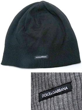 DOLCE&GABBANAドルガバ ニットキャップロゴタググレー ブラック帽子 ニット帽ドルチェ&ガッバーナ D&Gメンズ レディース 男女兼用KNIT CAPヴァージンウール100%