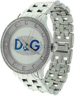 ドルチェ&ガッバーナ 腕時計ドルガバ ウォッチ プライムタイムD&G TIME watch PRIME TIME DW0535アナログ ラインストーンステンレスブレスDOLCE&GABBANAホワイト×ブルーロゴディー&ジー