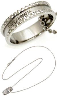 DOLCE&GABBANA D&G ジュエリーロゴ入りリング ネックレス シルバーリングサイズ(日本サイズ約21号)が合う方はリング単体で指にはめてもOKJewelry WAC510 W0001 87655ドルチェ&ガッバーナ ドルガバ