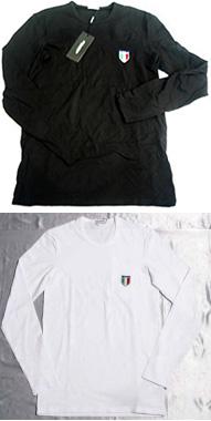 大きい割引 DOLCE&GABBANAドルチェアンドガッバーナメンズ 長袖Tシャツ ロンTエンブレムワッペン ブラック ホワイトM10032-OM047-N0000 W0800ドルガバ:kaminorth, THREE WOOD:58ba3e87 --- nagari.or.id