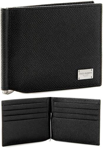 50f2c0538e8e DOLCE & GABBANA D & G Dolce & Gabbana d & g mens money clip with bi-fold  purse gunmetasilverlogo plate 2 fold wallet embossed calfskin black off  white ...