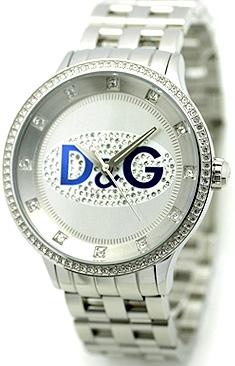 DOLCE&GABBANA D&Gドルチェ&ガッバーナ 腕時計 プライムタイムD&G TIME watch PRIME TIMEアナログ オーバル ラインストーン ステンレスブレスDW0133WHBL ブルー ドルガバ ディー&ジー