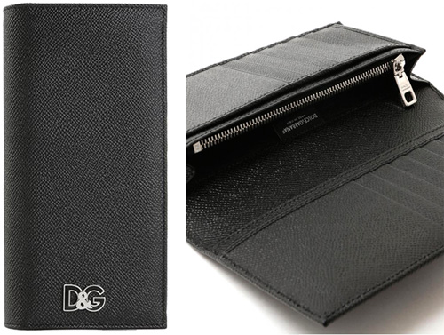 965b97a1395 D & G DOLCE &GABBANA black pennies put with two bi-fold wallet Dolce &  Gabbana d logo engraved plate silver perforated calf dot BP1319 A3F24 8b956  long ...