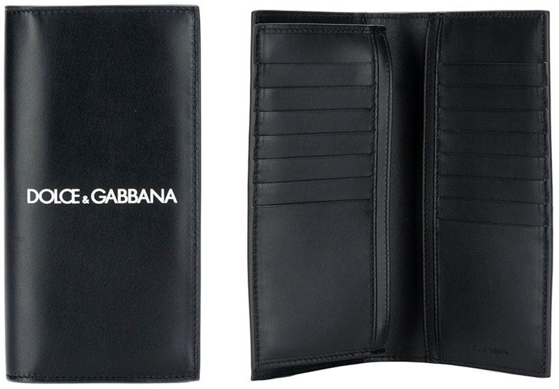 DOLCE&GABBANA D&Gドルチェ&ガッバーナ ドルガバ小銭入れ付き二つ折長財布ホワイトセンターロゴブラック スムースカーフレザードルガバ ディーアンドジーさいふ サイフ ウォレット