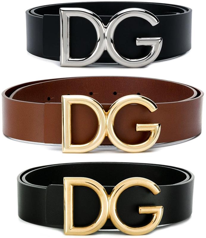 DOLCE&GABBANAドルチェ&ガッバーナメンズ レザーベルト ブラックDGロゴバックル ドルガバディーアンドジーD&G LEATHER BELT87653BK