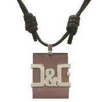 ドルチェ&ガッバーナ D&G ネックレスDJ0732 ドルガバ ブロンズ チョーカー牛革ネック ファッション プレゼント