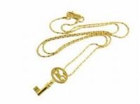 D&G ドルチェ&ガッバーナDOLCE&GABBANAネックレス ゴールド×シルバー鍵型 カギモチーフ ゴージャスアクセサリー エレガント プレゼントDJ0347