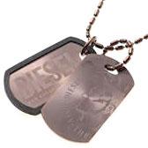 DIESEL ペンダントネックレスディーゼル ダブルプレート ドッグタグ ブロンズアクセサリー メンズPENDANT NECKLACEDX0013
