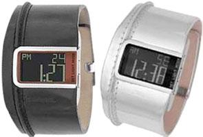 柴油手表DIESEL DZ7090 DZ7033数码手表皮革皮带警报日历日期、星期人