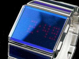 ディーゼル 腕時計DIESEL DZ7107 デジタルウォッチパープルブルーメタルバンド×シルバーケースメンズ LED腕時計