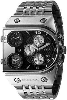DIESEL ディーゼル 腕時計3つの時間を一気に表示 トリプル&クロノグラフブラック×シルバーメタルバンド DZ9052メンズ ウォッチ Watch4ポイントビス モヒカン
