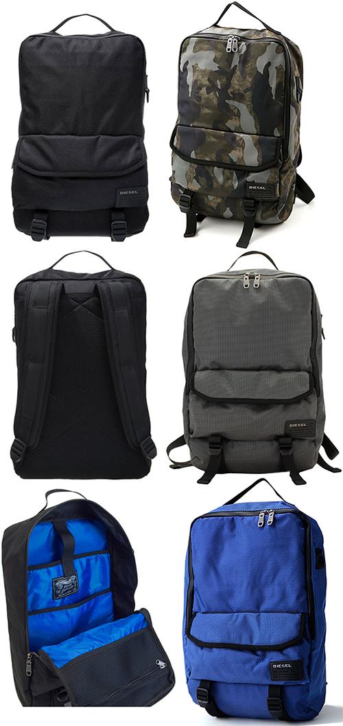 DIESEL BAG デイバックディーゼル リュックサックブラック ブルー グレー バックパック迷彩ミリタリーグリーン カモフラージュブルーCLOSE RANKS BACKPACKF-CLOSE BACK T8013BKH5254CAGN H6095CABL T8085GY T6084BL鞄 カバン かばん