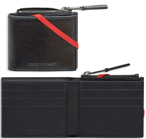 a592e62c651 Two folio wallet black X red line metal logo wrinkle leather wallets fold  wallet Christian Dior Christian Dior contrast line wallet wallet with the  DIOR ...
