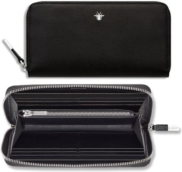 DIOR HOMME Dior Homme fasteners rubx two bi-fold wallet enamelcording black wallet purse CBMC2722 NOIR Christian Dior Dior