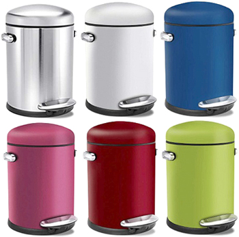 lolostyle dome top stainless step can red pink blue white light green silver hands