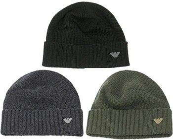 f73e11dbbfb75 EMPORIO ARMANI Emporio Armani knit Cap knit hat ribbed Hat men s Eagle logo  627001 0W457 black 00020 khaki 00084 gray 00549 Brown 00253 Hat Cap