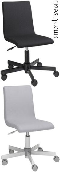 殿堂 ガス圧降式キャスター付きオフィスチェア座面の高さ簡単に調整可能インテリア デスク家具シンプルバックブラック グレー椅子 チェア イス いす職場でもキッチンでもユースフルoffice chair, 額田町 a60b221d