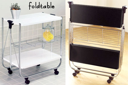 Superieur Storage: Do Not Use Folding Kitchen Trolley With Casters Kitchen Carts Cart  Cuisine Will Bring To The Table At Once Sailed A Little White Black KITCHEN  ...