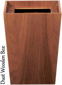 小さくても格好いいごみ箱 木製ゴミ箱机の隅やテーブルの上でも邪魔にならないコンパクトサイズダストボックス ウッドデンカントイレやベランダにもちょこっと置いておくと便利ですテーパードスクエア 北欧 ミッドナイトセンチュリーごみ箱