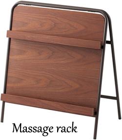 天然木 メッセージ&CDラックスタンディングフレーム2段木製ラック 単行本棚 収納棚 伝言板 はがき置きダークブラウン コーナーカーブドパイプQ7516-WN ウォールナット