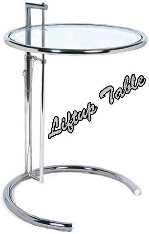スライドアップラウンドガラステーブル生活スタイルに合わせて天板を高さ調整可能サイドテーブル 昇降天板ラウンド強化ガラス カフェテーブル円盤 リビングテーブルリフトアップテーブルトレー1枚サイドテーブル馬蹄型ベース インテリア