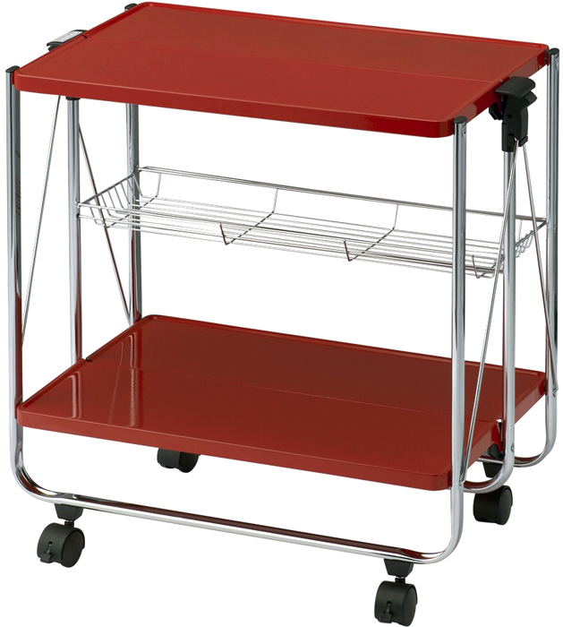 Storage: do not use folding kitchen trolley with casters kitchen carts cart  cuisine will bring to the table at once sailed a little white black ...