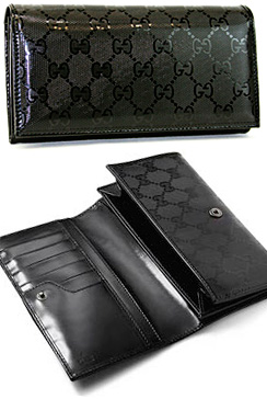 36666f25cf9 GUCCI Gucci rubx two fold wallet coated fabric x bi-fold leather wallet  black GG imprimé gunmetal hardware IMPRIMEE two wallet 1000 black wallet  purse ...