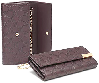 ce52175c3fe0 GUCCI Gucci trademark engraved metal plate rubx 2 fold wallet GG pattern  detachable chain strap guccissima leather black dark brown 269541 AA61G1000  2019 ...