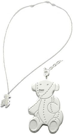 Kaminorth shop rakuten global market gucci gucci pendant necklace gucci gucci pendant necklace teddy bear plate logo imprinted teddy bear bear bears pendant necklace sterling silver argento 258862 j8400 8106 mens womens aloadofball Images