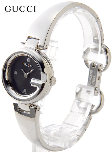 8e97f333004 GUCCI Gucci ladies watch G round face guccissima collection stainless steel  band ladies watch black dial x silver GUCCISSIMA Ladies Collection Watch  analog ...