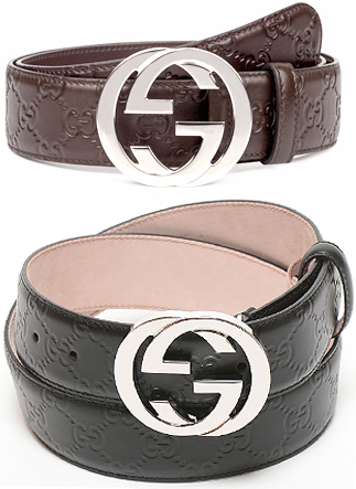 ec18b6bd3d3 GUCCI Gucci leather belt interlocking GG buckle black dark brown double G  buckle Shima Gucci 2019 1000 Palladium round buckle